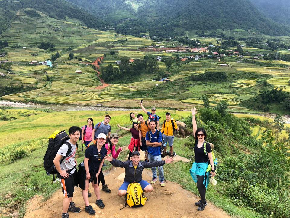 Các nhóm đi leo núi trekking ở Sapa