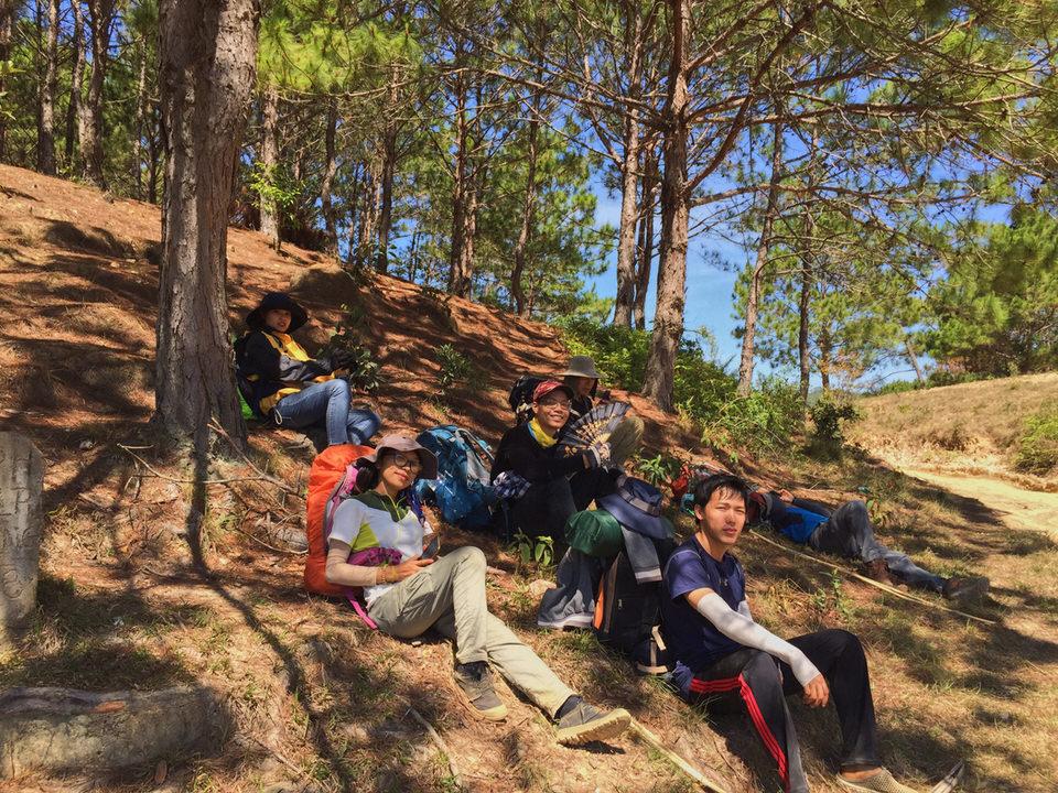 Những con dốc dựng cheo leo nên khi đi trekking sẽ rất mệt